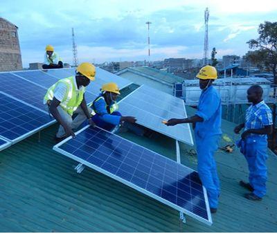 Solar Power Installation.