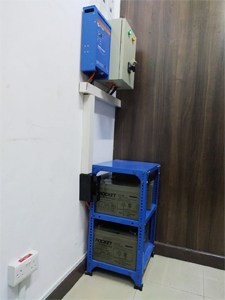 800Va Inverter Charger Power Backup Powering a Network Cabinet for an Office Along Mombasa Road.