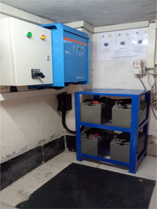 10KVa Inverter Charger Power Backup System Powering Critical Loads For a Leading Supermarket In Kenya.