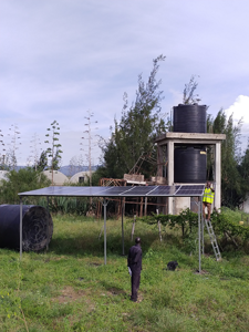 Solar water pumping for a farm in Kamulu