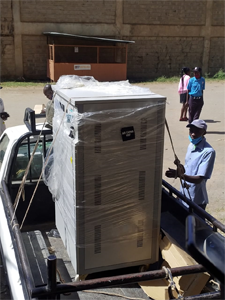 150kva automatic voltage stabilizer enroute to a Covid-19 research centre- Nairobi Kenya